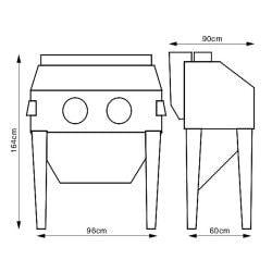 Cabine de sablage  Unicraft SSK2.5 - 6204003