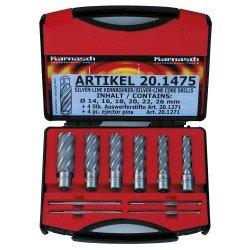 Coffret de fraises à carotter HSS-XE Metallkraft Silver Line 50 - 38720.1475