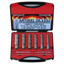 Coffret de fraises à carotter HSS-XE Metallkraft Gold Line 55 - 38720.1332