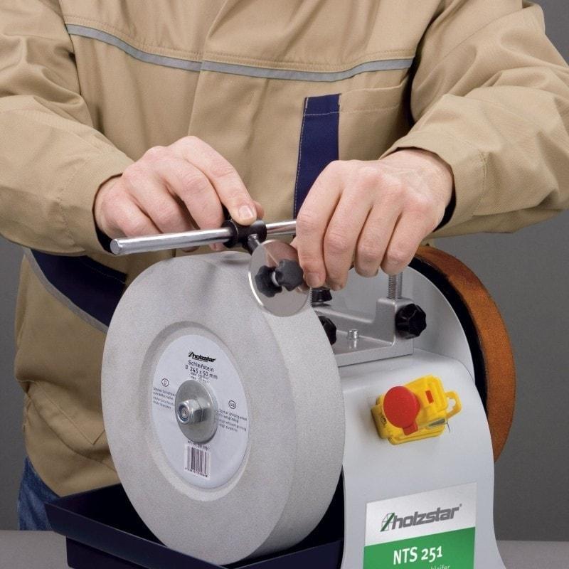 Dispositif d'affûtage des lames rondes - Affûteuse NTS 251