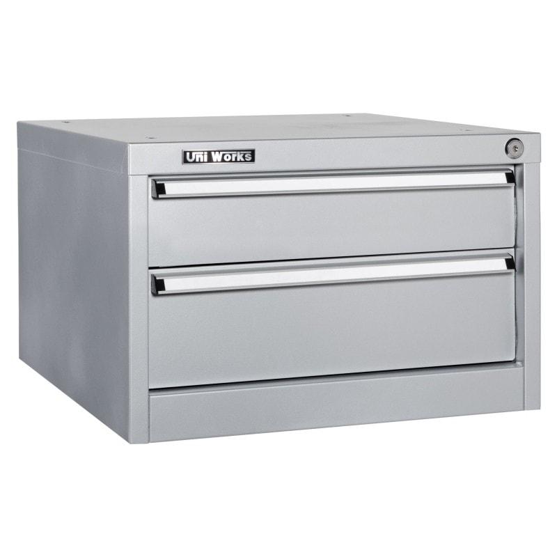 Coffre 2 tiroirs suspendu établi Uniworks 1200 à 2100 mm
