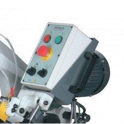 Scie à ruban Optimum S 210 G - 3300210 - Panneau de commande ergonomique avec bouton d'arrêt d'urgence