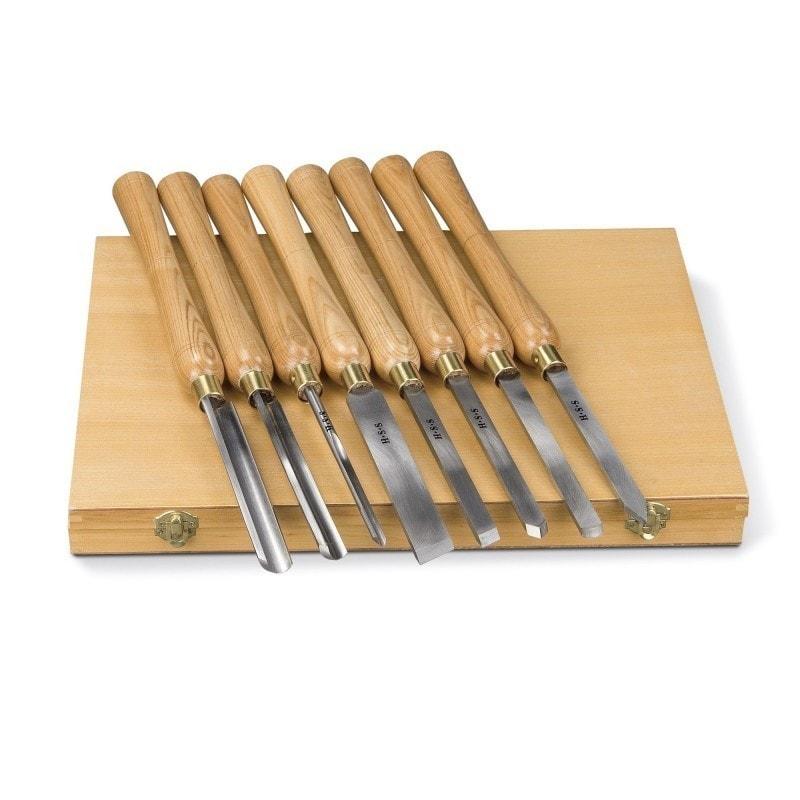 jeu de 8 outils bois pour tour bois holzstar optimachines. Black Bedroom Furniture Sets. Home Design Ideas
