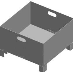Bac à copeaux pour BMBS 230 x 280 HA-DG