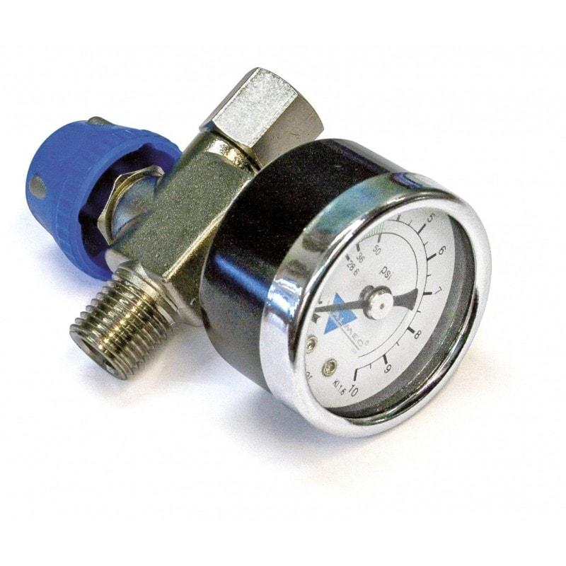Régulateur de pression en ligne à manomètre