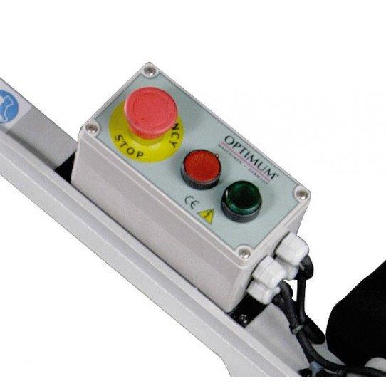 Scie à ruban Optimum S 131 GH-3300131-Panneau de commande avec arrêt d'urgence coup de poing