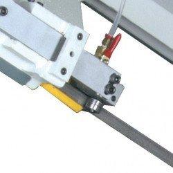 Scie à ruban Optimum S 210 G - 3300210 - Guidage de lame, roulements 5 points, ajustable avec brosse à copeaux