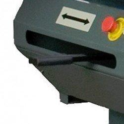 Scie à ruban Optimum S 300 DG - 3290290 - Commande orientation archet pour coupes avec butée, règle graduée précise