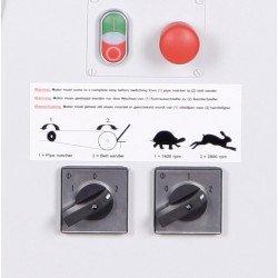 Ponceuse à bande multi-fonctions Metallkraft KRBS 100 - 3705100 -  Panneau de commande