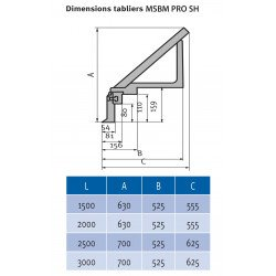 Plieuse motorisée type lourd Metallkraft MSBM 2020-60 PRO SH