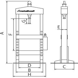 Presse d'établi Metallkraft WPP 15 T