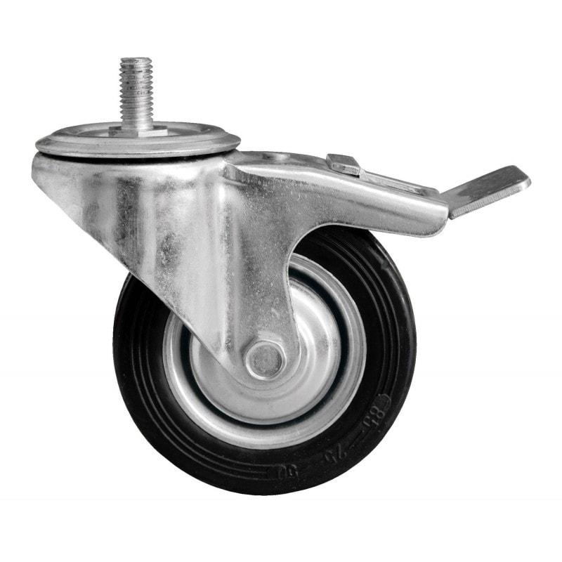 Roue orientable avec frein métallique