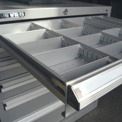 Jeu de séparation pour le bloc 6 tiroirs  Uniworks - L x H : 565 x 800