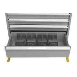 Capacité de charge répartie pour le bloc 6 tiroirs  Uniworks - L x H : 565 x 800