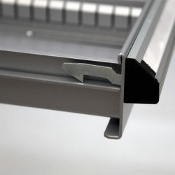 Système anti-retour Caisson 8 tiroirs  Uniworks - L x H : 565 x 1000