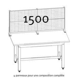 Composition compète des Panneaux perforés Uniworks  pour établi 1500 mm - EEPP2907