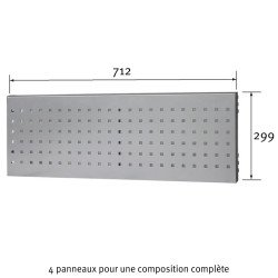 Dimensions du Panneau perforé Uniworks pour établi 1500 mm - EEPP2907