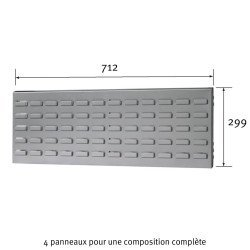 Dimensions du Panneau cranté Uniworks pour établi 1500 mm -  EEPL2907
