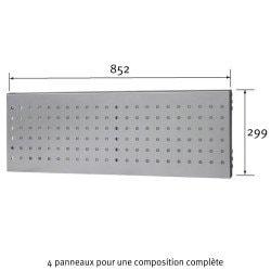 Dimensions du panneau perforé Uniworks  pour établi 1800 mm - EEPP2908