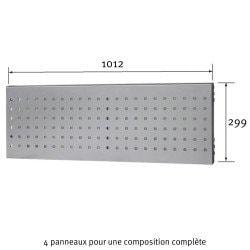 Dimensions du panneau perforé Uniworks pour établi 2100 mm  - EEPP2910