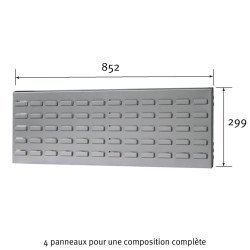 Dimensions du panneau cranté Uniworks pour établi 1800 mm - EEPL2908