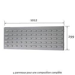 Dimensions du panneau cranté Uniworks pour établi 2100 mm - EEPL2910