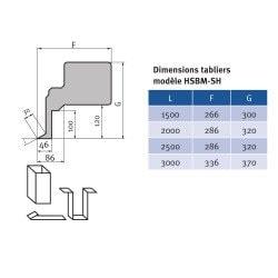 Plieuse manuelle type lourd Metallkraft HSBM 2020-20 SH