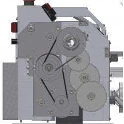 Détail de l'entraînement du tour à métaux Optimum TU 2004 V - 3420310