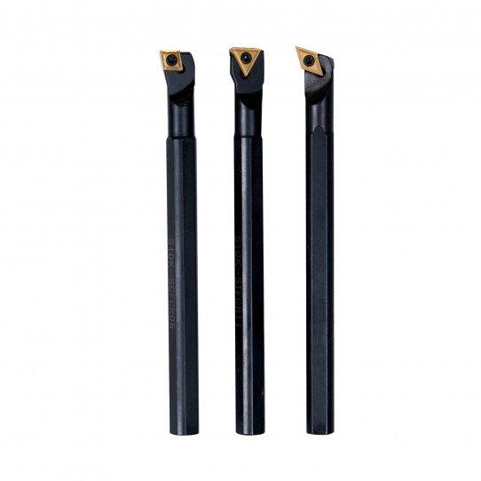 Jeu de 3 outils d'alésage 10 mm à plaquettes