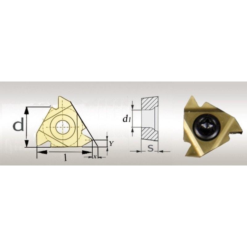 5 Plaquettes de rechanges revêtues Titane 60° AR