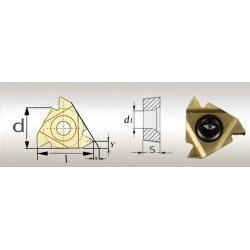 5 Plaquettes de rechanges revêtues Titane 60° IR16