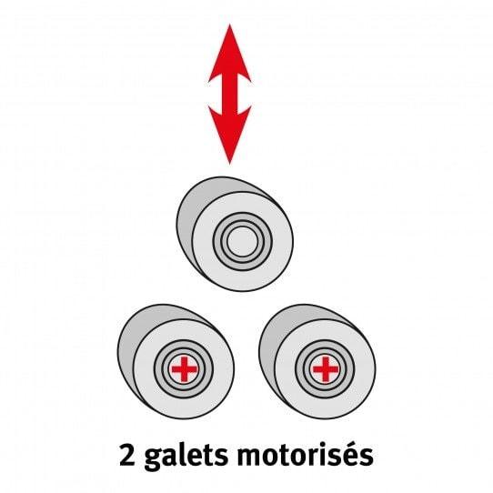 2 galets de cintrage motorisés pour la cintreuse manuelle à galets Metallkraft PRM 10 M