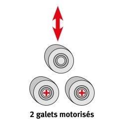 2 galets de cintrage motorisés pour la cintreuse à galets  Metallkraft PRM 35 F