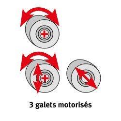 3 galets motorisés pour rouleuse asymétrique  Metallkraft RBM 1550-20 E