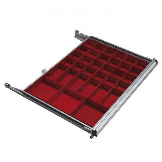 Jeu d'éléments de compartimentage tiroir modèle casier Uniworks