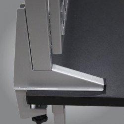 Base montant perforé pour panneaux d'établi Uniworks