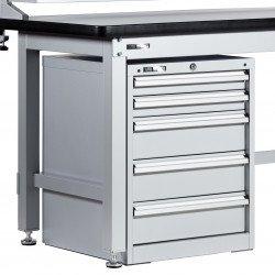 Caisson d'atelier sous établi Uniworks 5 tiroirs