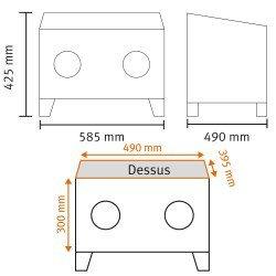 Dimensions de la cabine de sablage Unicraft SSK 1 - 6204000