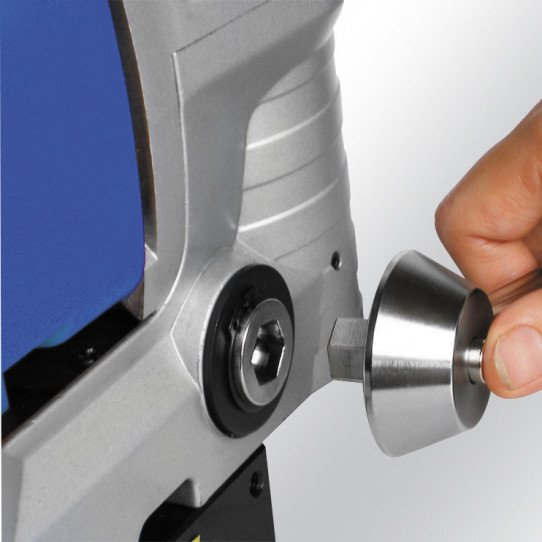 Cabestan à crans, ajustable de la perceuse magnétique  Metallkraft MB 351 F - 3860350