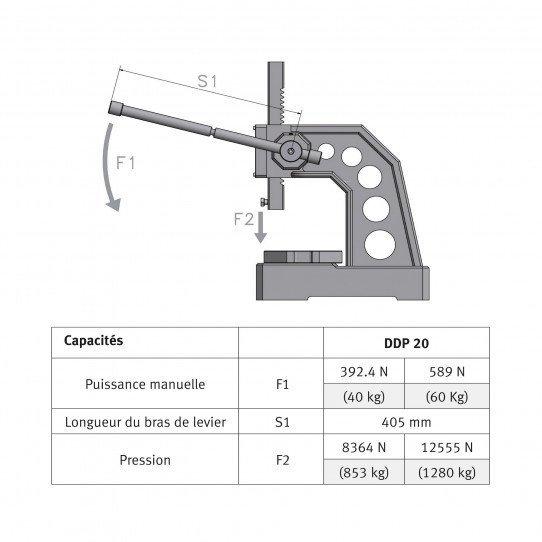 Presse manuelle  Optimum DDP20 - 3359012