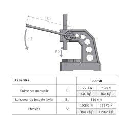 Presse manuelle  Optimum DDP50 - 3359015