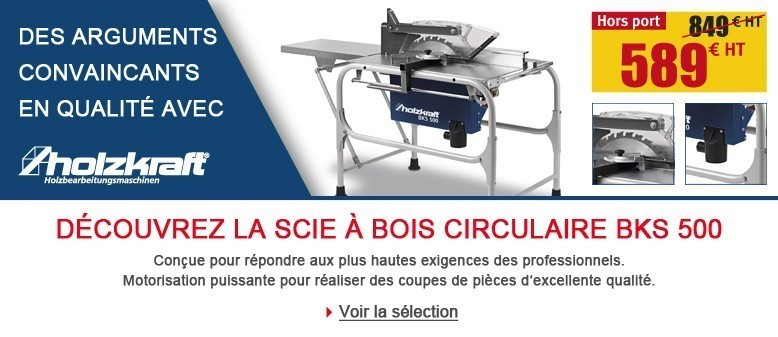 Découvrez la scie circulaire à bois BKS 500